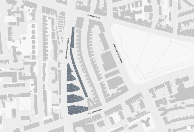Shepherds Bush Market designed by Apt Architects London