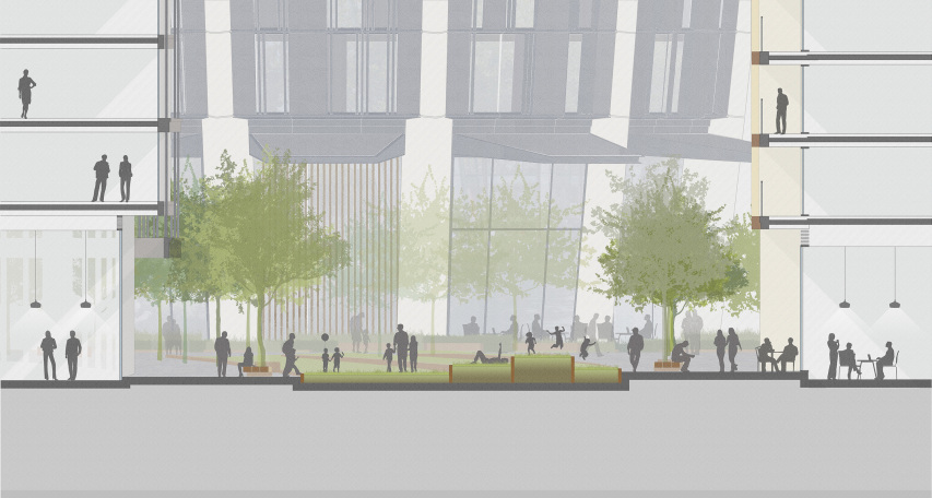 Merchant Square Masterplan designed by Apt Architects London